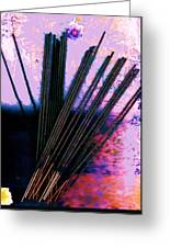 Abstract With Sticks Greeting Card