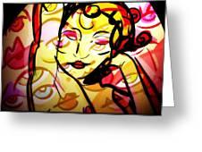 Abstract Woman Greeting Card