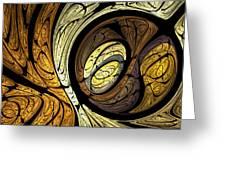 Abstract Wood Grain Greeting Card