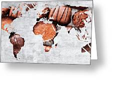 Abstract World Map - Chocolates - Confections - Candy Shop Greeting Card
