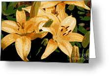 Abstract Yellow Asiatic Lily - 1 Greeting Card