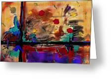 Abstract Yellow Horizontal Greeting Card