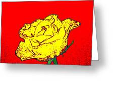 Abstract Yellow Rose Greeting Card