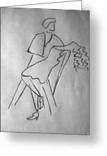 Abstract_couple Dancing Greeting Card