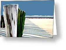 Abstracted Beach Dune Fence Greeting Card
