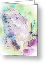 Abstracted Butterfly Greeting Card by Jill Balsam