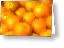 Abstracted Oranges Greeting Card