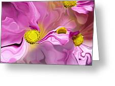 Abstracted Pink Greeting Card