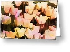 Abstracted Tulips Greeting Card