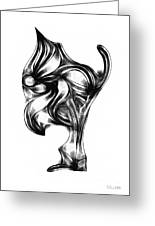Abstraction 490-10-13 Maruci Greeting Card