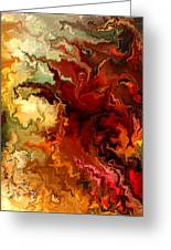 Abstraction Surrealist By Rafi Talby Greeting Card