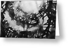 Abstraction Under Microscope Greeting Card