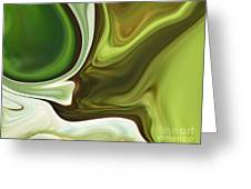 Abstraction With Emerald Orb Greeting Card
