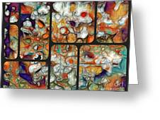 Abstractionnel -29a02 Greeting Card