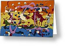 Abstracts 14 - The Circus Greeting Card