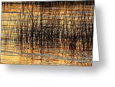 Abstract Reed And Water Patterns Greeting Card