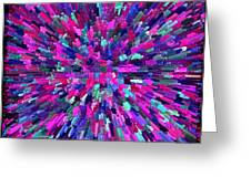 Abstrract Cubes Violet Greeting Card