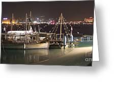 Abu Dhabi At Night Greeting Card