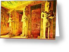Abu Simbel Hypostyle Hall Greeting Card
