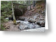 Acadia National Park Carriage Road Bridge Greeting Card