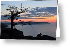 Acadia Sunrise 2 Greeting Card