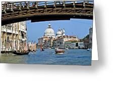 Accademia Bridge In Venice Italy Greeting Card