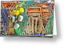 Accessories To Shrimp Catching Greeting Card