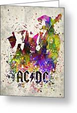 Acdc In Color Greeting Card
