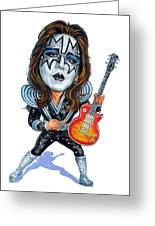 Ace Frehley Greeting Card by Art