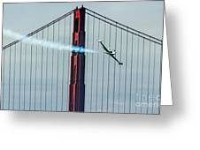 Ace Maker And The Golden Gate Greeting Card