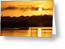 Acela Sunset Greeting Card