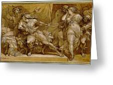 Achilles And Briseis Painting By Giuseppe Cades