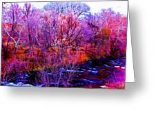 Acid By The Creek Greeting Card