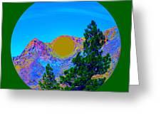 Acid Desert Orb 2 Greeting Card