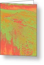 Acid Sky Hill Greeting Card