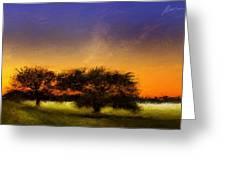 Acid Sunset Greeting Card