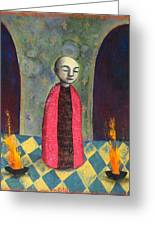 Acolyte With Fire Pots Greeting Card