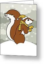 Acorn Winter Greeting Card