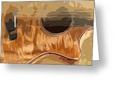 Acoustic Guitar Brown Background 2 Greeting Card