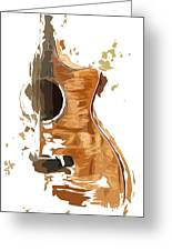 Acoustic Guitar Brown Background 4 Greeting Card