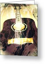 Acoustic Guitar - In The Studio Greeting Card