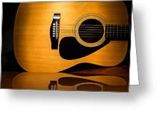Acoustic Guitar Reflected Greeting Card