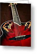 Acoustical Red Greeting Card