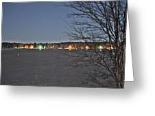 Across The Lake Greeting Card