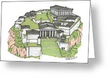 Acropolis Of Athens Restored Greeting Card
