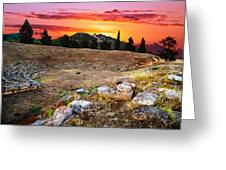 Acropolis Of Eretria  Greeting Card