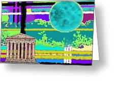 Acropolis Plaid Greeting Card