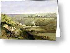 Across Jerusalem Valley Greeting Card