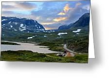 Across Scandinavian Mountains Greeting Card