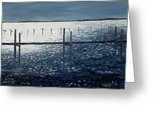 Across The Bay At Night Greeting Card
